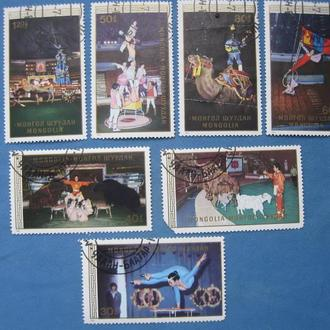 Монголия 1986 цирк серия