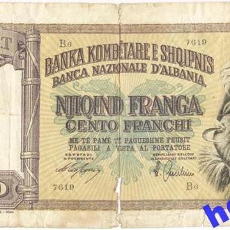 Албания 100 франгов 1940.Итал. окупация. RR! Р8
