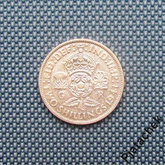 Великобритания 2 шиллинга 1941 г Георг VI серебро №2