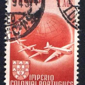 Ангола (1949) Португальская колония. Авиапочта. Самолёты, земной шар