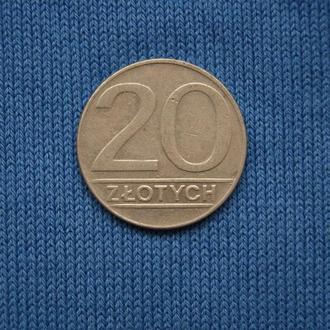 Польша 20 3лотых 1989 г