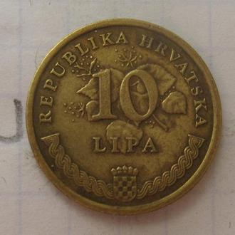 Хорватия 10 липа 2001 года (ТАБАК).