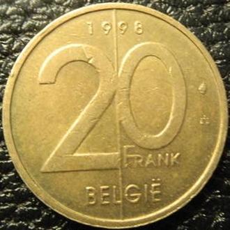 20 франків 1998 Бельгія Belgie нечаста