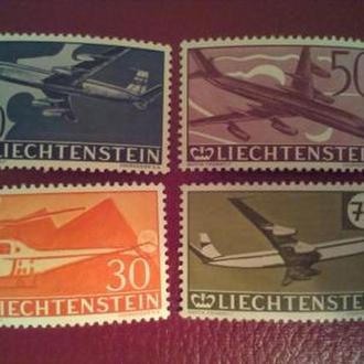 Лихтенштейн.1960. Авиация. MNH КЦ 26 Евро