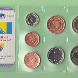 Набор монет БОСНИЯ И ГЕРЦЕГОВИНА запайка набір БОСНІЯ І ГЕРЦЕГОВИНА пластик серия DAS GELD DER WELT