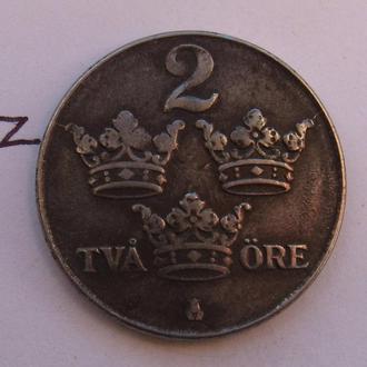 ШВЕЦИЯ, 2 эре 1943 года.