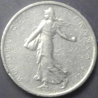1/2 франка 1965 Франція (маленькі літери)