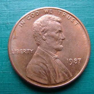 США 1 цент 1987