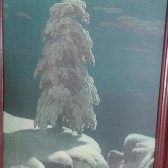 """Репродукция картины Васнецова """"На севере диком"""""""