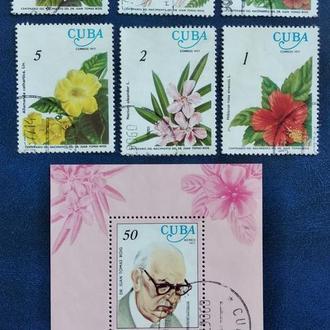 Куба 1977г. Цветы
