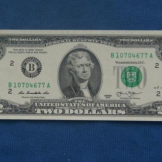 США 2 доллара 2013 г аUNC ЛЮКС