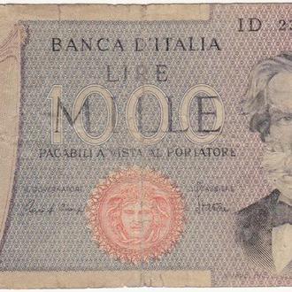 ИТАЛИЯ  1000 лир 1969 (06.09.1980) год
