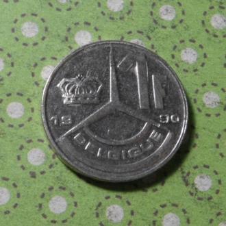 Бельгия 1990 год монета 1 франк !