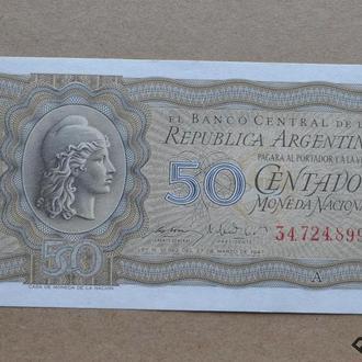 Аргентина 50 сентаво 1947 г aUNC №2