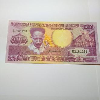 100 гульденов Суринам 1986 unc.