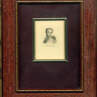 Гравюра. Catherine Clive. Кетрин Клайв британская актриса 1711-1785