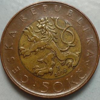 Чехия 50 крон 2009 биметалл