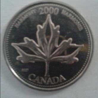 Канада. 25 центів 2000 р. Мілленіум - Гармонія.