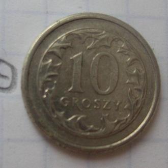 ПОЛЬША, 10 грошей 1991 г.