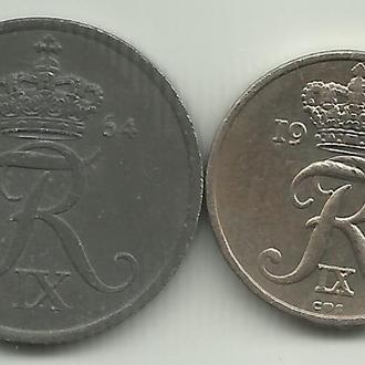 Дания Фредерик IX 2+10 оре 1964 2 монеты