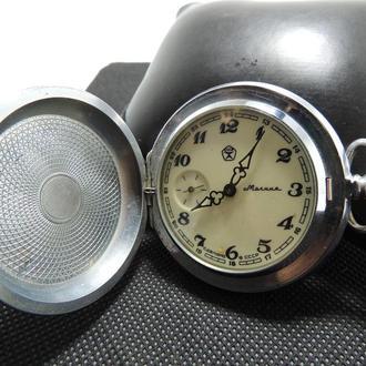 Карманные советские часы Молния тетерев шишки СССР рабочие
