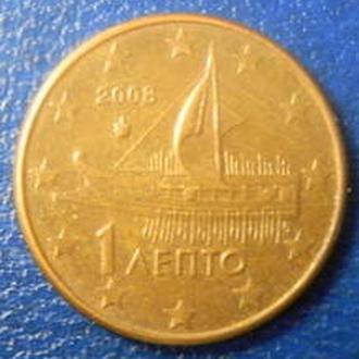 1 євроцент 2008 Греція