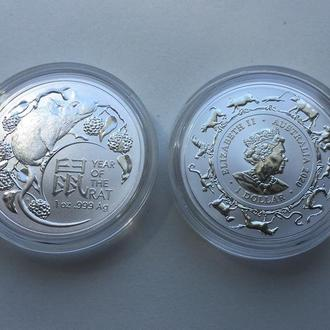 1-я в серии Год Крысы Лунар 2020 от Royal Australian Mint