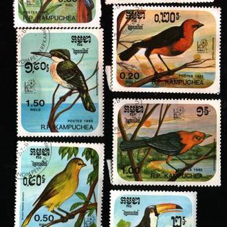 Кампучия, 1985, Птицы, 7 марок