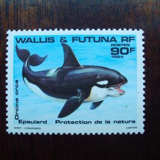 Остр.Уоллис и Футуна.1984г. Морская фауна. Косатка. Полная серия. MNH