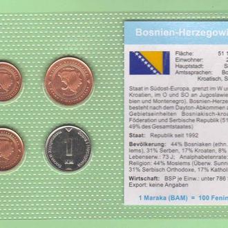 Набор монет БОСНИЯ И ГЕРЦОГОВИНА блистер запайка пластик