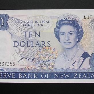 New Zealand Новая Зеландия 10 долларов 1985