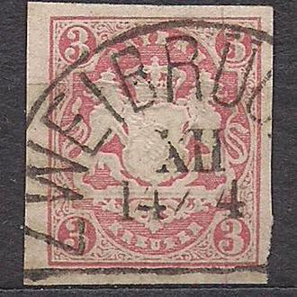 Бавария, немецкие земли, 1867 г., марка № 15