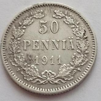 Россият для Финляндии  50 пенни 1911 г