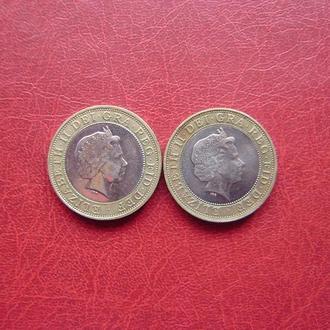 Великобритания 2 фунта 1998, 1999.