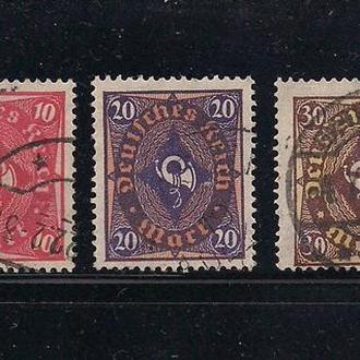 """Рейх, 1922 г., распродажа, 15% каталога, стандартный выпуск """"Posthorn"""""""