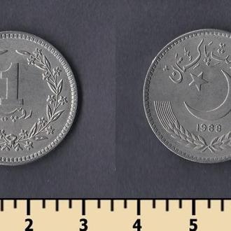 Пакистан 1 рупия 1988