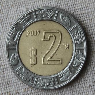 Мексика 2 песо 2007