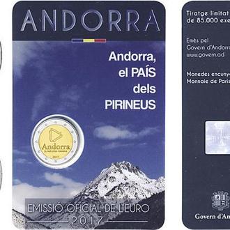 Андорра, 2 евро 2017-2018, Андорра - страна в Пиренеях
