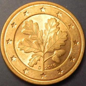 2 євроценти 2016 D Німеччина