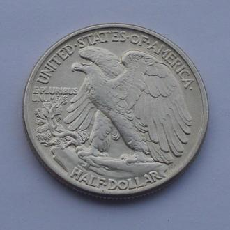 1942 г - 1/2 доллара США ,серебро