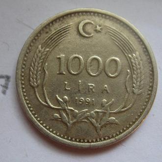 ТУРЦИЯ 1000 лир 1991 г.