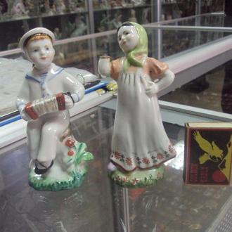 фигура фарфор  лфз гармонист с девушкой танец с гармошкой под реставрацию №31