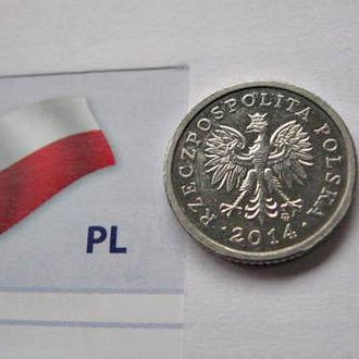 Обиходная Монета 10 Польских грошей 2014 год