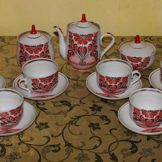 Чайный сервиз СССР Бориславский фарфоровый завод