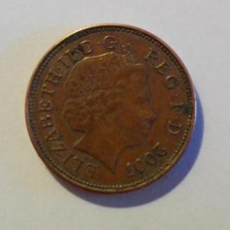 Монета 2 Pence. TWO PENCE 2007.
