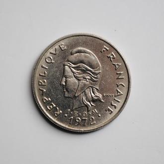 Французская Полинезия 10 франков 1973 г., XF, 'Заморское сообщество Франции (1965-2015)'