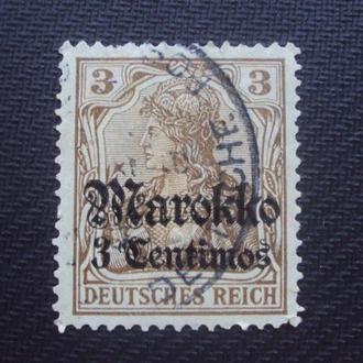 Немецкая почта в Марокко 1911г. гаш.
