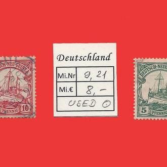 ✠ Немецкие колонии ✠ Deutsch-Neuguinea 1897-1915 ✠ Германия ✠ Империя ✠ Used Є8,- ✠