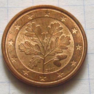 Германия_ 1 евро цент 2017 F оригинал