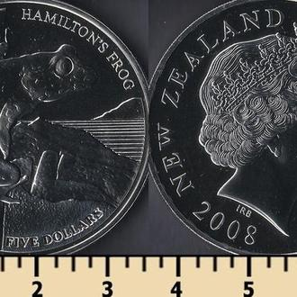 Новая Зеландия 5 долларов 2008